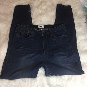 PAIGE ultra skinny jeans dark wash Sz 31